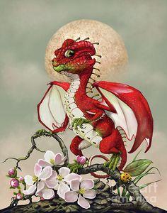 Apple Dragon Digital Art by Stanley Morrison
