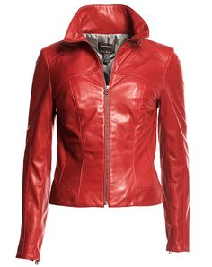 Red  Leather Trendy Clothing Stores 4819c358c2d34
