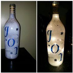 Wine bottle light christmas taking orders kedmo06@yahoo.com