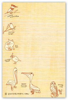 Natural History Doodle Notepad