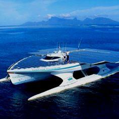 Solar powered ship.