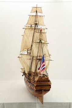 Ship model USS Bonhomme Richard of 1779