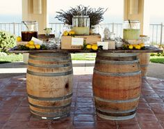 Outdoor Table... would be great for a wedding at a winery/vineyard.