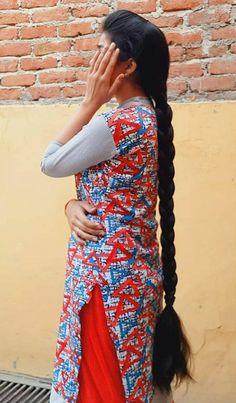 Indian Long Hair Braid, Braids For Long Hair, Indian Hairstyles, Braided Hairstyles, Pony, Wrap Dress, Long Hair Styles, Celebrities, Beautiful