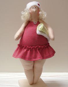 cosy shaped woman doll Lindas änglar: tilda