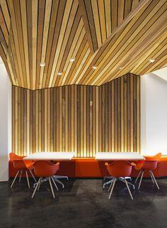 Wood Grid Panel For Suspended Ceiling Asu Walter Cronkite School Basement Pinterest