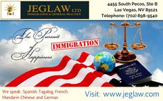 We are ready help to your immigration issues our team is highly experienced in providing the right solution for all relevant immigration problems.For free consultation,Call: (702) 898-9540. Visit:http://www.jeglaw.com/
