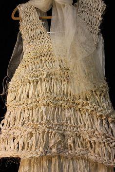 Ravelry: Sari Ribbon Top pattern by Beautiful Silks Indian Silk Sarees, Sari Silk, Ribbon Yarn, Silk Ribbon, Recycled Fashion, Recycled Clothing, Newspaper Dress, Dress Card, Sari Fabric