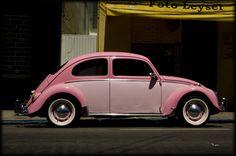 VW Beetle pink toned
