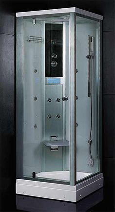 32 x 32 steam shower enclosure with rain shower mood lighting 10 body sprays - Luxury Steam Showers