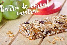 Receita de barra de cereal fácil, gostosa e rápida de fazer! Fica uma delícia e é bem mais saudável que as versões que compramos no mercado!
