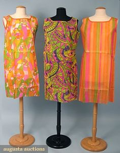 Paper Dresses from the 1960's.  Even I had one!  Why and what purpose these served I have no idea...not even today! LOL!