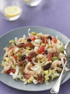Recette de Salade d'endives, pamplemousse et crevettes