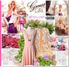 """""""Guess Girl ----- Chicwish"""" by anabella507 ❤ liked on Polyvore"""