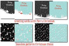 Merry christmas rabbit by Orangepencil on @creativemarket