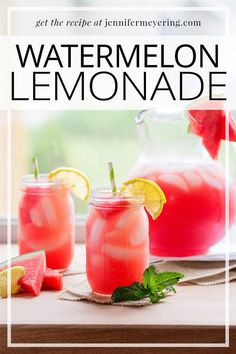 Switch up your regular lemonade with this simple-to-make watermelon lemonade that is sure to quench your thirst on a hot summer day.