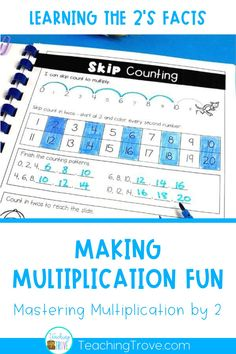 Teaching multiplication to your 3rd grade students should be fun. Use this free multiplication activity book to introduce the multiplication strategy for multiplying by 2 and then give your students lots of fun and motivating practice with the interactive worksheets. These multiplication booklets are perfect for math centers, partner work, morning work or extra activities for early finishers. #multiplication #timestables #multiplicationgames #multiplicationactivities