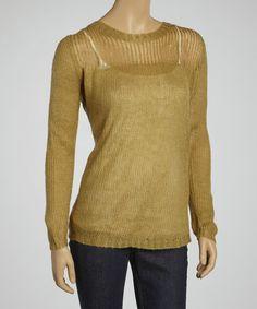 Another great find on #zulily! Camel Crewneck Sweater #zulilyfinds