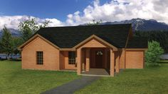 Home Plan HOMEPW77361 is a gorgeous 1031 sq ft, 1 story, 3 bedroom, 2 bathroom plan influenced by  Ranch  style architecture.