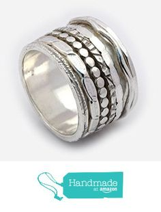 Sterling silver Wide Spinner ring, meditation band, worry ring, engagement rings, anxiety rings, silver wedding rings Size 6 to 9 from By Nature Jewellery https://www.amazon.com/dp/B01BANSIQI/ref=hnd_sw_r_pi_dp_Rffsyb8Z6VD51 #handmadeatamazon