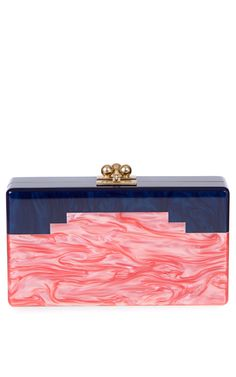 Shop Jean Baker In Sapphire And Coral by Edie Parker for Preorder on Moda Operandi