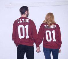"Partner Sweatshirts ""Bonnie & Clyde"" / sweatshirt for lovers, partners in crime by magicboxshop via DaWanda.com"