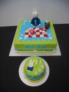 Nijntje taart en meptaartje Miffy cake