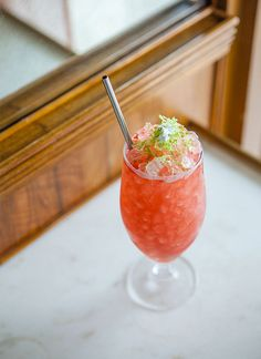 Sloe Moon's Rose: A modern take on the swizzle, the Sloe Moon's Rose at Sauvage swaps the traditional rum base for gin, Contratto and framboise.