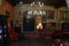 Langley Castle Hotel: Drawing Room