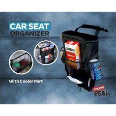 Car Back Seat Organizer/Auto Seat /Multi-Pocket Travel Storage Bag/Insulated Car Seat Back Drinks Holder Cooler /Storage Bag Cool Wrap Bottle Bag/Mesh Pockets(Heat-Preservation)