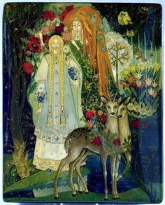 Artist Unknown - The Snow Queen (lacquer box cover design)