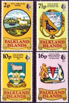 Falkland Islands 1974 Battle of the River Plate Set Fine Mint  SG 307/10 Scott  237/40 Other South Pacific and British Commonwealth Stamps HERE!