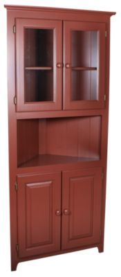 Homemakers Furniture: Solid Pine Corner Cabinet: Archbold Furniture Company: Dining: Buffets & Hutches