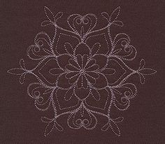 """""""Baroque Noel - Fleur Flake"""" Craft a glamorous winter with this beautiful, intricate snowflake design! - UT7150, UT7152 (Machine Embroidery) 00572034-112013-0830-6"""