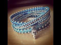 Irish Linen Wrap Bracelet Tutorial - YouTube
