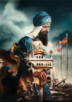 Guru Hargobind – Lord of Miri Piri – Art of Punjab: Official Site Guru Hargobind, Baba Deep Singh Ji, Guru Tegh Bahadur, Guru Nanak Wallpaper, Shri Guru Granth Sahib, Nanak Dev Ji, Guru Pics, Warriors Wallpaper, Punjabi Culture