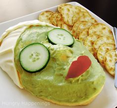 Not necessarily great for your skin but still a very fun spa party idea :) Hungry Happenings: Spa Party Appetizer - A clever way to serve a cheese ball.