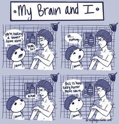 My Brain and I - Shower by Artbymoga on DeviantArt