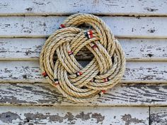 How To Make A Nautical Rope Wreath.