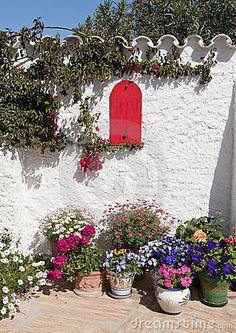 ... Spanish Mediterranean Garden, near Mojacar, Almeria, Andalusia, Spain