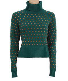 Look at this #zulilyfind! Evergrade & Orange Polka Dot Wool-Blend Turtleneck by Louie et Lucie #zulilyfinds