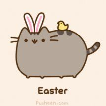 Easter with pusheen