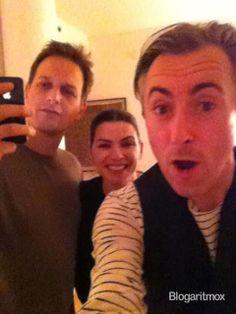Josh Charles, Julianna Margulies, and Alan Cumming