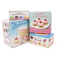 Bakery Kitchen, Home Bakery, Cherry Cupcakes, Bakery Supplies, Square Cakes, Kitchen Themes, Cake Tins, Macaroons, Sweet Treats