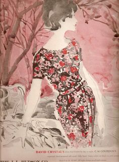 Vintage Magazine Illustration*David Crystal 1962