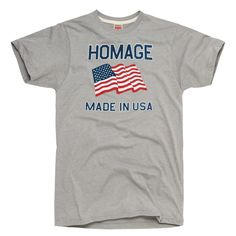 HOMAGE Made In USA Patriotic Flag T-Shirt - $20.00 #USA #Olympics
