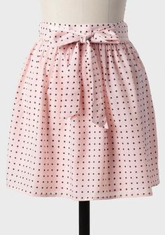Winthrop Lane Peach Polka Dot Skirt at shopruche.com.