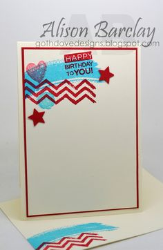 Gothdove Designs - Alison Barclay - Stampin' Up! Australia - Work of Art stamp set with a CASE This Sketch challenge #stampinup #colorcoach #birthday #card