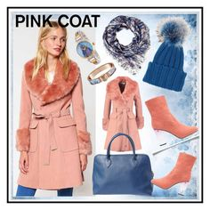 """Pink coat"" by amisha73 ❤ liked on Polyvore featuring Miss Selfridge, Inverni, Marc and Disney"