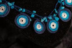 Handmade Boho schmuck Textile Halskette , crochet necklace, cotton, häkeln Schmuck in Baumwolle , Gehäkelte halskette boho stile Boho Necklace, Boho Jewelry, Crochet Necklace, Summer Business Attire, Boho Stil, Pretty Necklaces, Hippie Boho, Gifts For Friends, Necklace Lengths